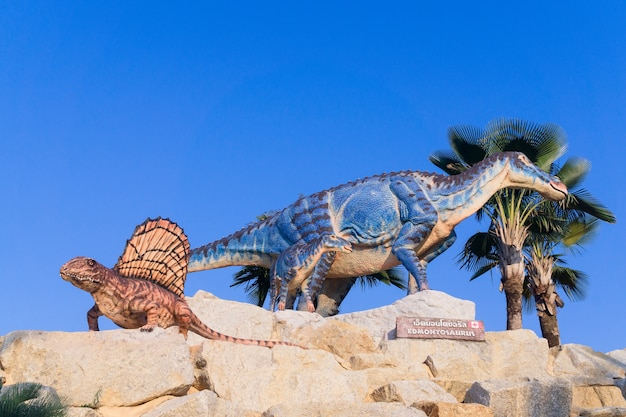 Edmontosaurus 모델 hadrosaurid 공룡.