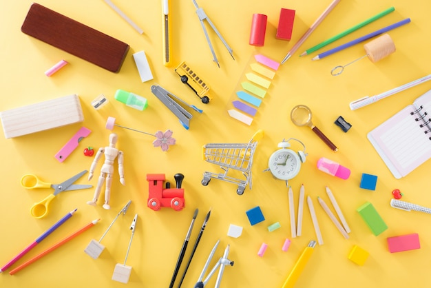 Education, back to school concept and office supplies