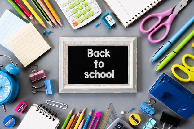 Education or back to school on gray background