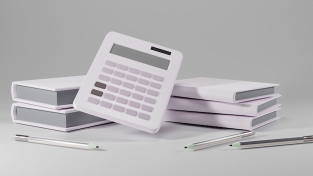 教育の概念。白い背景の上の本の3d。モダンなフラットデザインのアイソメトリックコンセプト