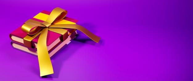 Концепция образования. 3d визуализация книги, современный плоский дизайн изометрической концепции