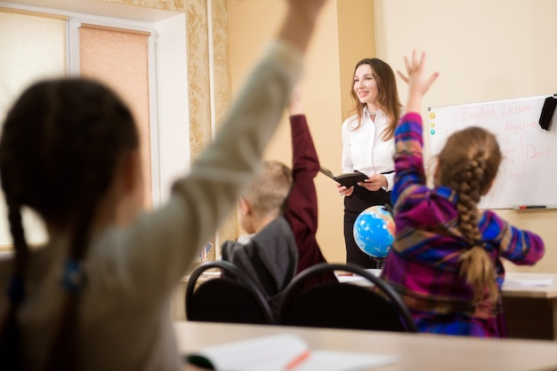 교육, 초등학교, 학습 및 사람들 개념.