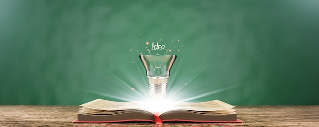 Education learning in school and university or idea concept.