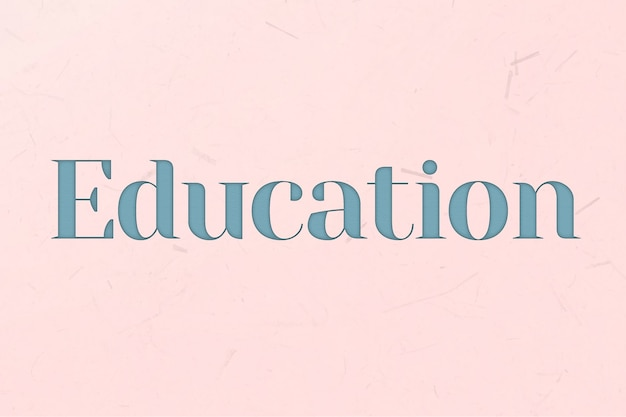 青いテキストスタイルの教育単語