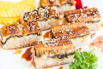 Eel sushi roll maki