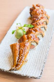 Eel sushi roll