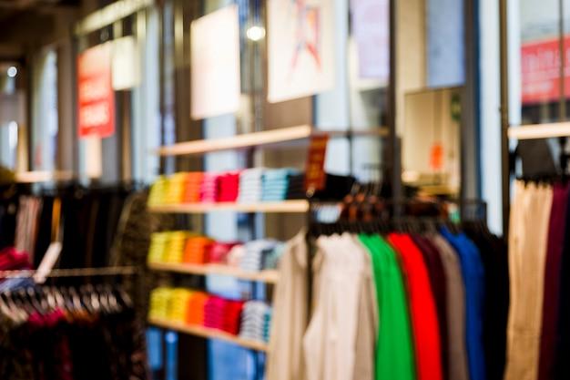 ぼやけているefectoと衣料品店