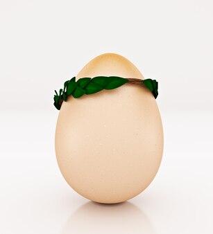 Яйцо концепции 3d-рендеринга