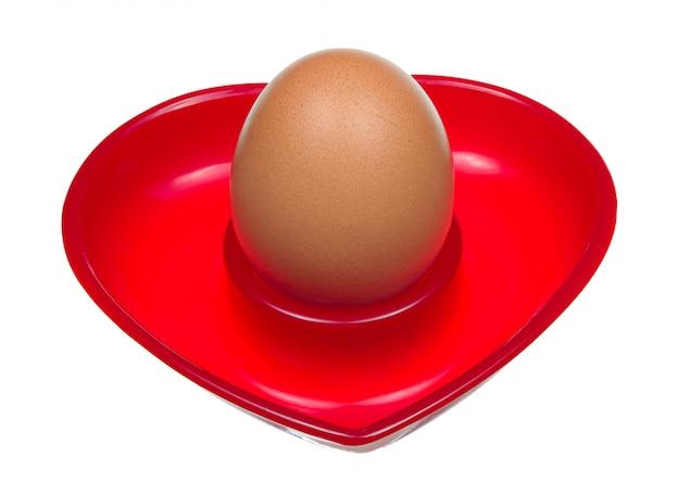 ハートの形をしたスタンドの卵