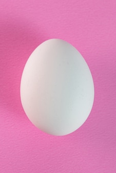 Egg on the pink table