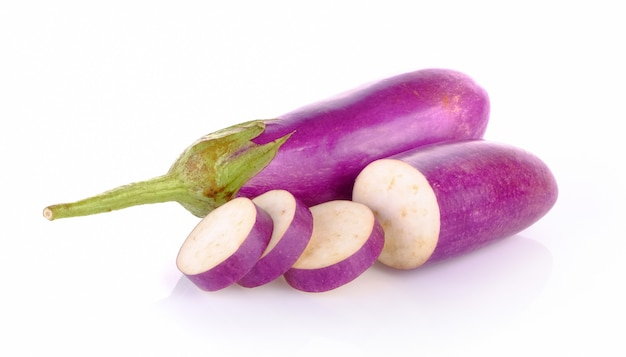 Egg plant on white