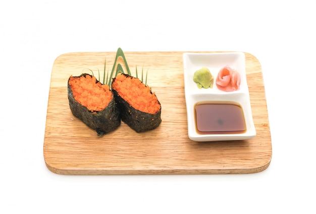 Egg shrimp nigiri sushi - japanese food style