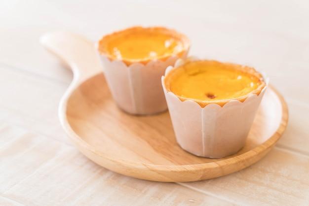 Egg tart on plate