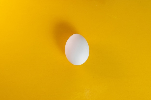 Egg on the yellow table