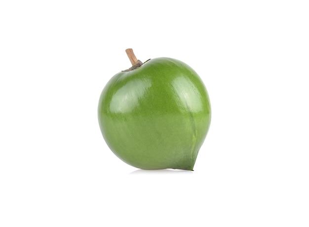 Eggfruit or canistel fruit  isolated on white background