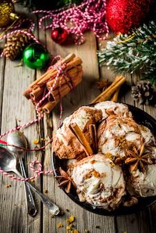 Eggnog or gingerbread ice cream