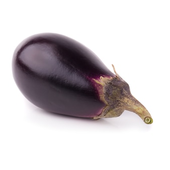 Eggplant or aubergine vegetable isolated on a white background.