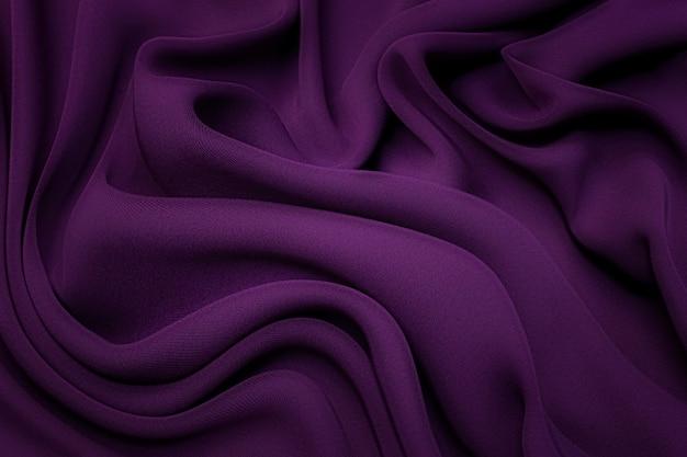 Цвет баклажана шелковая ткань