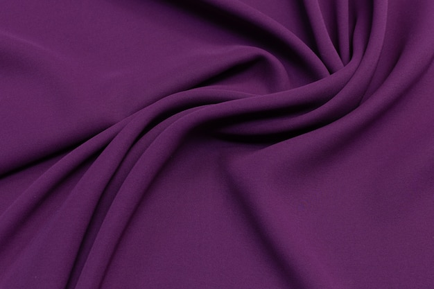 Eggplant color silk fabric