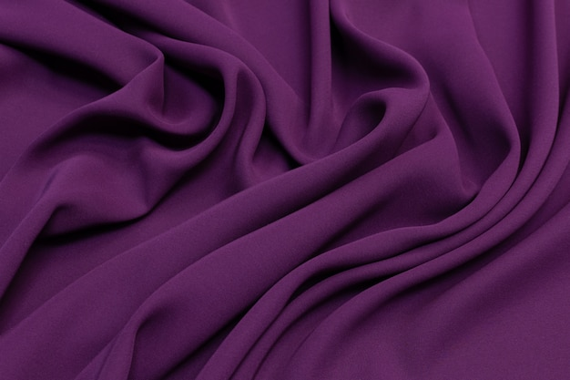Eggplant color  silk fabric