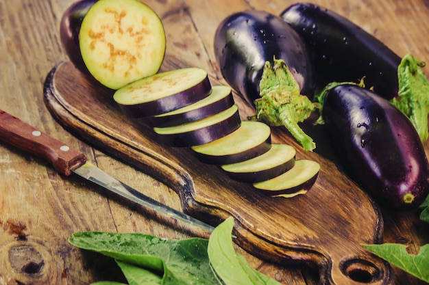 Eggplant nature. food and drink. selective focus.