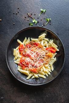Макароны из баклажанов посыпать сыром томатный соус паста alla norma овощ