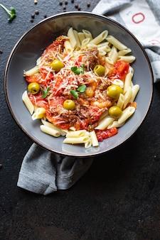 Пенне из баклажанов pasta alla norma или amatriciana guanciale с томатным соусом rigatoni