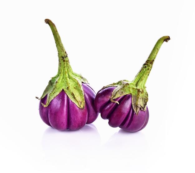 白地に茄子紫と圧着溝