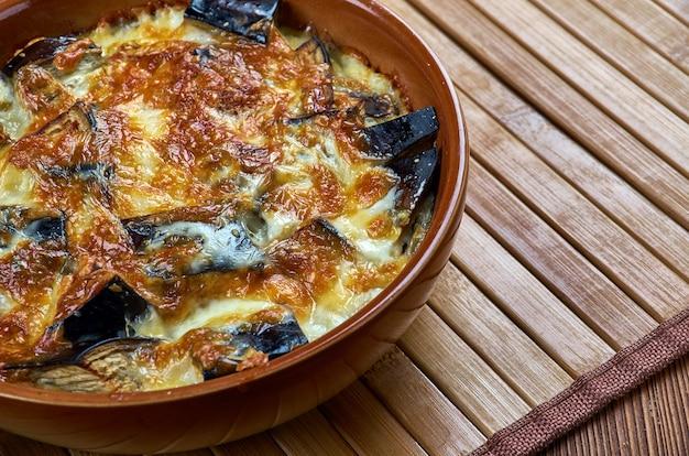Запеканка из баклажанов с рикоттой, итальянская кухня