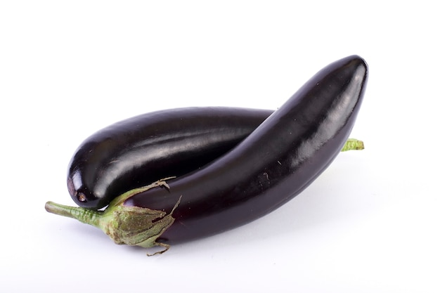 Eggplant  on a white background. aubergines are fresh and delicious. fresh vegetables on a white background.