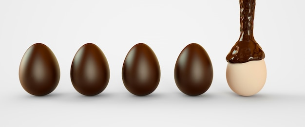 Eggs in chocolate