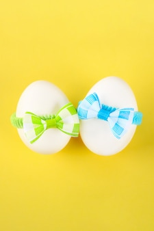Eggs decorated with bows