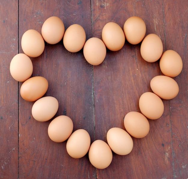 Eggs, heart shape