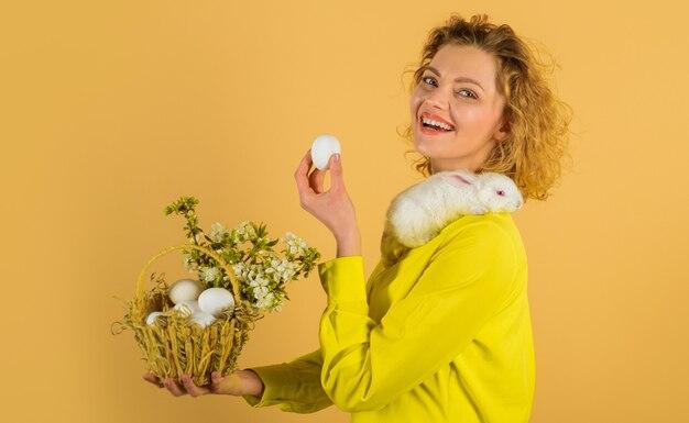 계란 사냥, 부활절 달걀, 바구니 계란 웃는 여자, 봄 방학.