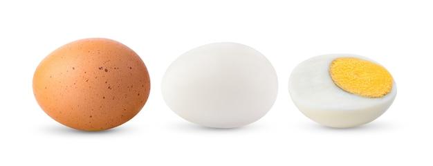 白で隔離の卵