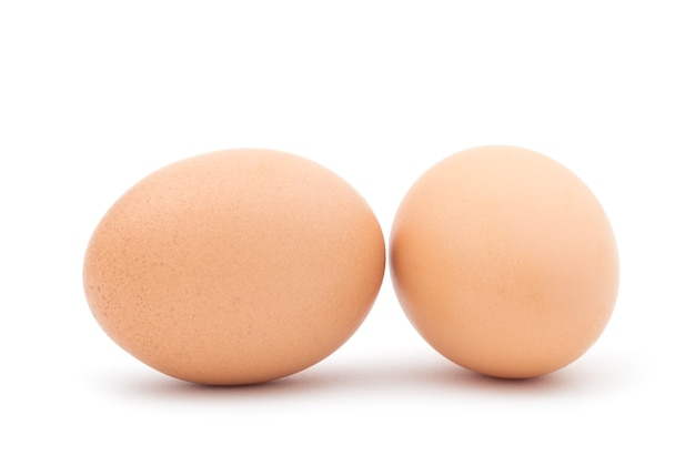 Eggs isolated on white surface