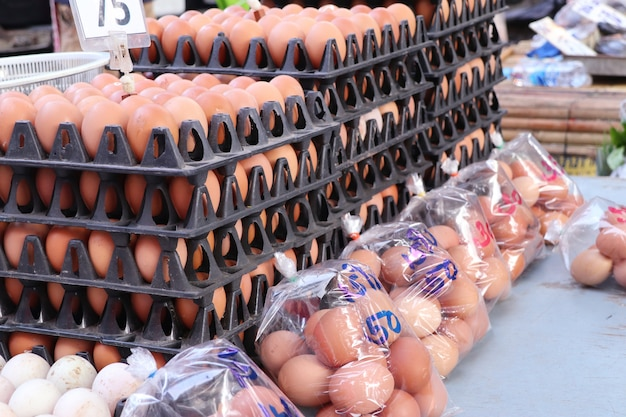 Eggs at the market