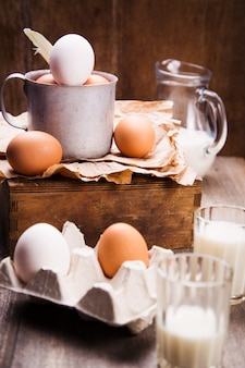 Eggs in old cup