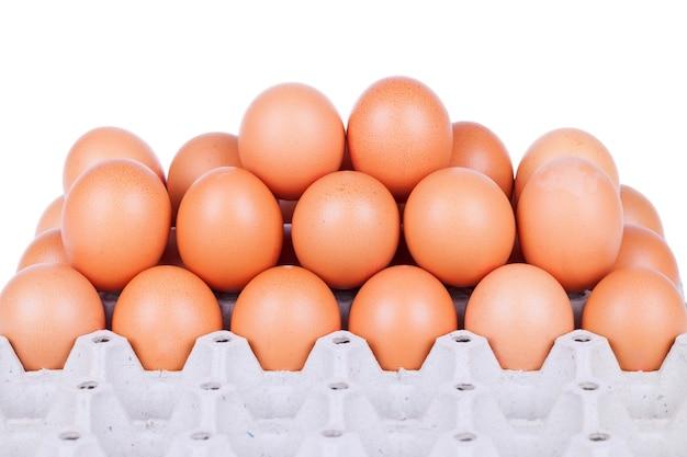 흰색 배경에 계란입니다.