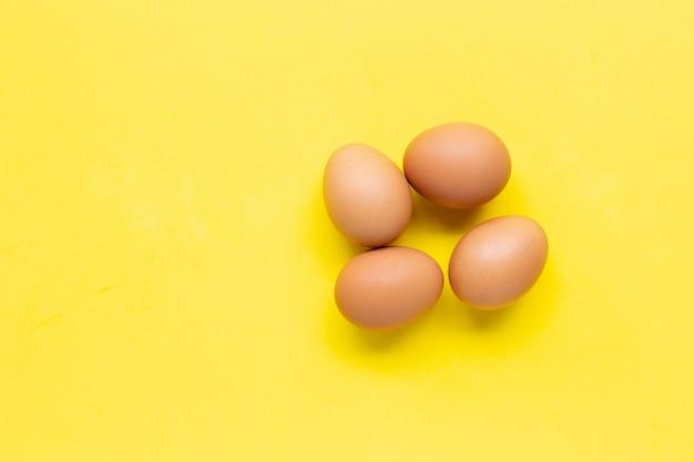Eggs on yellow.