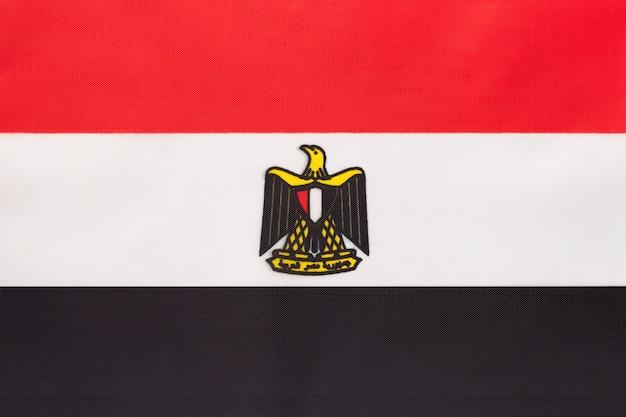 エジプトの国旗、テキスタイル背景国際アフリカ世界の国のシンボル