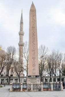 Egyptian column in a square in istanbul.