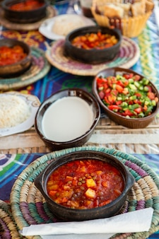 Egyptian oriental dinner