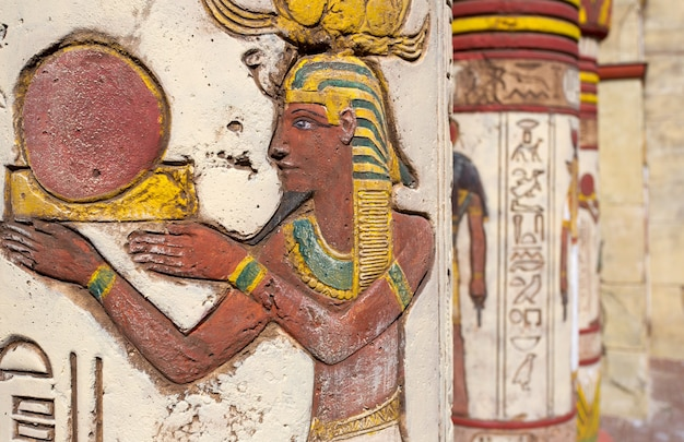 Egyptian wall paintings