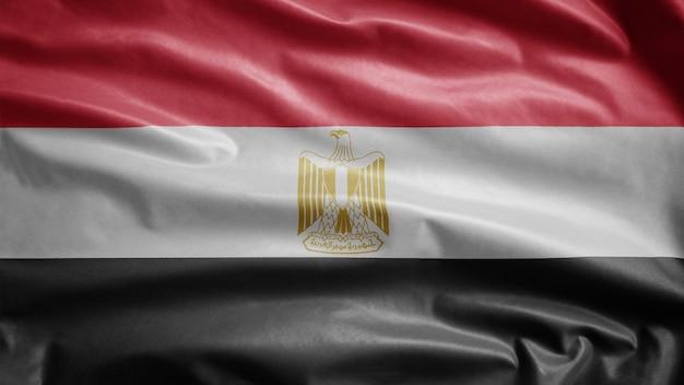 Египетский развевающийся флаг на ветру