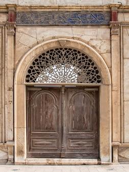 Egyptian wooden door