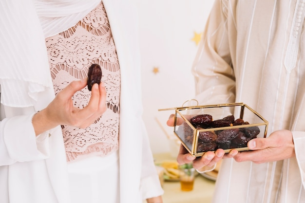 Eid concept with group of friends with dates