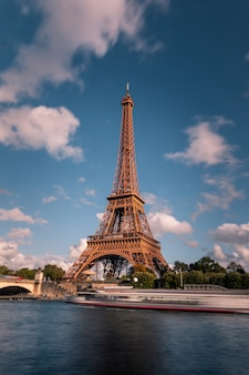 Eiffel tower at the city center of paris