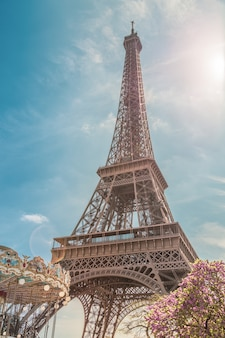 Эйфелева башня в париже, франция
