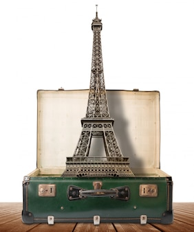 Eiffel tower in a suitcase